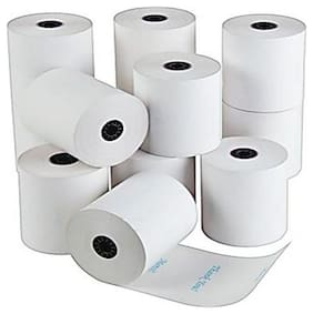 security store 57 mm x 25 m super market billing machine thermal paper roll ( set of 10)