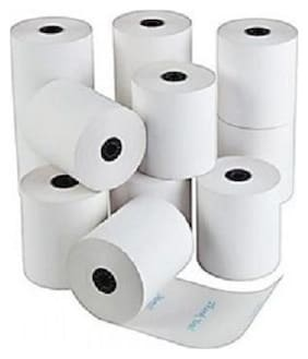 Security store 2 inch white plain thermal paper rolls(set of 10 roll)