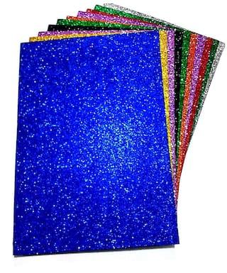 SelectionWorld Art & Craft Glitter Foam Sheets (Pack Of 10)