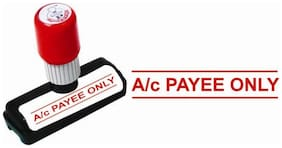 Self Ink A/c PAYEE ONLY Rubber Stamp : Size : 48x9 mm by Presto