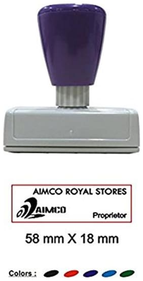 Self Inking Customised with clear impression Size: 58 x 18 mm appropriate for proprietor or signatoty authority