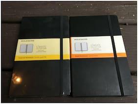 Set of 2 Moleskine Notebooks.1 ruled and 1 grid. New,unused items