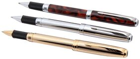 Set Of 3 - Jinhao 601 Marble Designer Metal Body Rollerball Pen Arrow Clip New