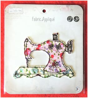 Sew Little Time Sewing Machine Sew-On Fabric Patch Applique Craft Embellishment