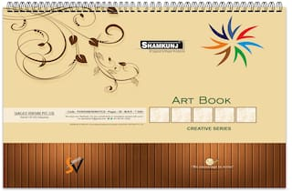 SHAMKUNJ Art Book 25 Sheets (50 Pages) for Drawing;Painting;Sketching with 140 GSM Paper