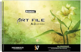 SHAMKUNJ Art File 50 Pages with Butter,Drawing Book
