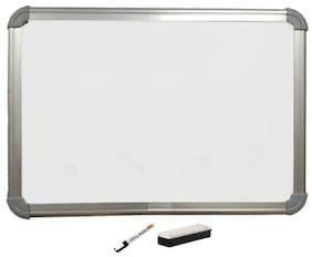 SHARRY DESIGNS Notice board + Whiteboard White Nova 1.5' foot x 2' feet 10 board Pins Combo