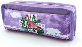 SHERAGO Pen/Pencil Box for Girls & Boys || Best Suitable for School Kids;Travelers and Students || Multipurpose Box/Case (Purple)