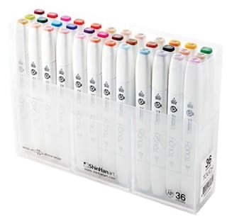 Shinhan Touch Twin Brush Markers (Set Of 36)
