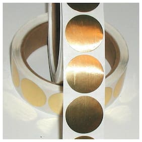 Shiny Gold Metallic Foil Seals, 2 Inch Circle, Roll of 500 Labels