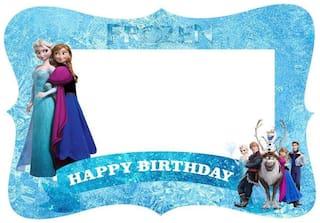 Shop Online Happy Birthday Photo Frame For Birthday Theme (Frozen)