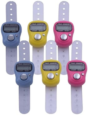Shopimoz Pack of 6 Multicolor Digital Tally Counter