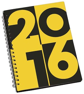 ShopMantra 2016 Year Designer Spiral Notebook (Pack Of 2)