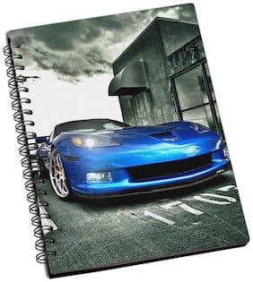 Shopmantra Awesome Blue Car Notebook
