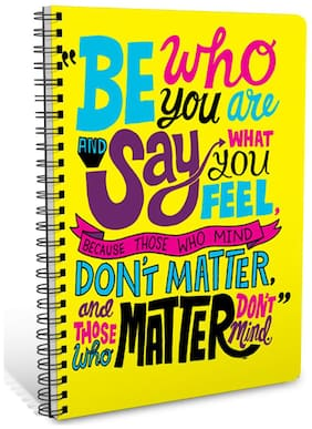 ShopMantra Be Who You Are Quotes A5 Sprial Notebook-160 White Pages