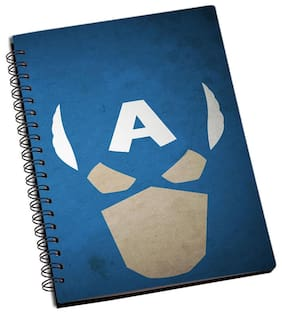 Shopmantra Captain America Minimals Art Work Notebook