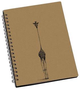 ShopMantra Giraffe Doodle Designer Spiral Notebook (Pack Of 2)