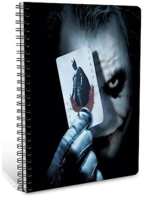 ShopMantra Joker With His Deadly Smile And Card A5 Sprial Notebook-160 White Pages