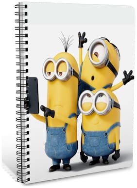 ShopMantra Minion Rush Selfie A5 Sprial Notebook-160 White Pages