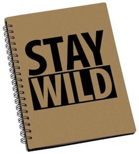 ShopMantra Stay Wild Designer Spiral Notebook (Pack Of 2)