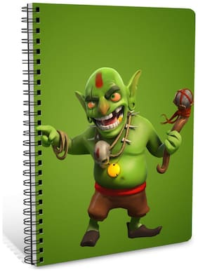ShopMantra The Hunting Goblin A5 Sprial Notebook-160 White Pages