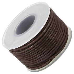 SIJCM Jewellery Making 1 MM Dark Brown Cotton Wax Cord 500 Mtr