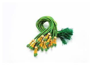 SIJCM Necklace Back Rope Colorful (Green) dori for Silk Thread Jewellery Making;Pack of 12Pcs.