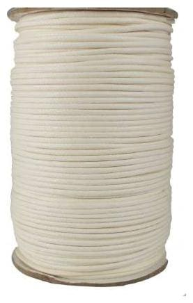 SIJCM Sparkle Jewellery Making white cotton wax cord 1MM-100MTR