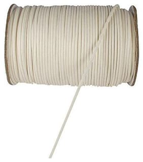 SIJCM Sparkle Jewellery Making 0.5 MM White Cotton Wax Cord 100Mtr