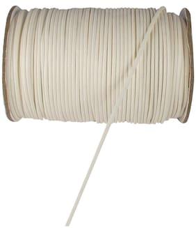 SIJCM Sparkle White cotton wax cord-1MM-001