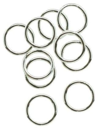 SIJCM Sparkle 10MM-Closed Jump ring in Silver colour