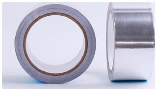 Single Sided Adhesive Tape Aluminium Foil 48mm 25 metr.(Manual)Silver Pack of 2