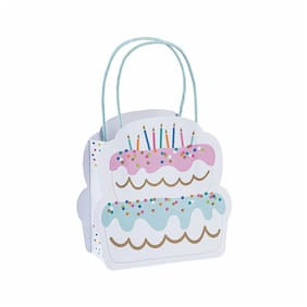 Small Birthday Cake Gift Bags - Party Supplies - 12 Pieces