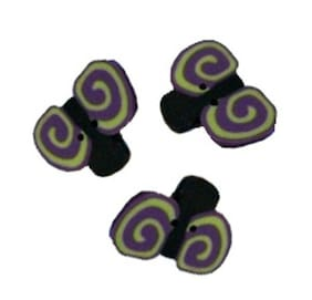 Small Doodlebug Polymer Clay Button Pack of 3 - 5/8 inch x 1/2 inch FREE US SHIP