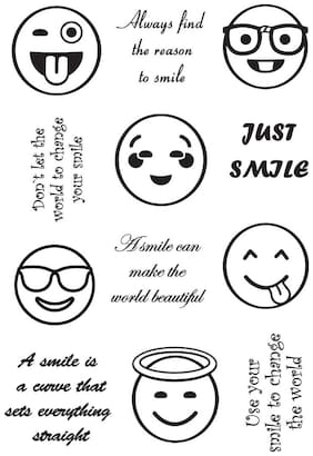 Smiley Rubber stamp craft