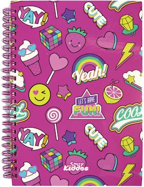 Smily Kiddos  A5 Lined Notebook , Multipurpose ( Pink set of 6)