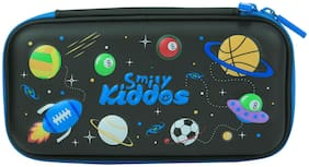 Smily Small Pencil Case (Black) | pencil cases for School& kids | pencil cases stylish | pencil case organizer for Boys  girls | pencil case for Black | eva pencil case for girls