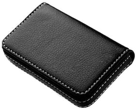 Soft Black Leather Luxyry Visiting 15 Card Holder (Set of 1, Black) # sk Enterprises