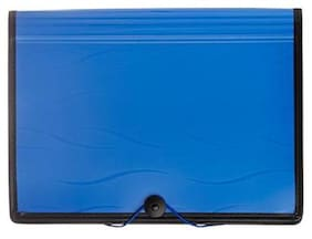 Solo EF- 301 Document Manager (6 Sections + Partition) A4 - Blue