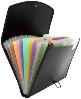 Solo Expanding File (Set Of 1- Black)