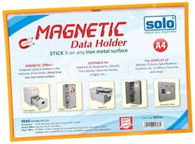 Solo Mdfa4 Magnetic Data Folder (Pack Of 2)
