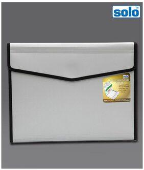 Solo Personal Portfolio Metallic Grey Folder