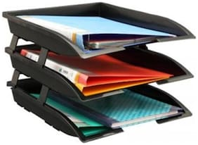 Solo Tr- 113 Paper And File Tray (3 Pcs. ) Xl - Black