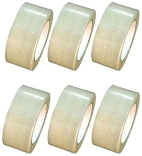 Solofix Transparent  Packaging tape (Pack of 6) 5.08 cm (2 inch)x65m