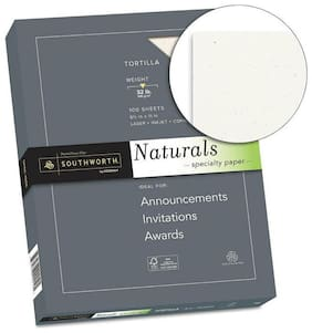 SOUTHWORTH CO. Naturals Paper, Tortilla, 8 1/2 x 11, 32lb, 100 Sheets 99419