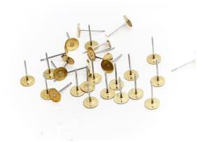 Sparkle 200 Pcs Earring Stud 4mm jewellery making