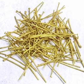 Sparkle Brass Flat Head PIN-20 guage-32MM-001