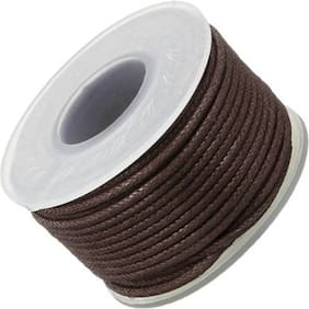 Sparkle Jewellery Making 1 MM Dark Brown Cotton Wax Cord 500 Mtr