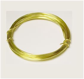 Sparkle Jewellery Making BRASS WIRE 22GUAGE0.64MM250-001