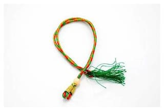 Sparkle Necklace Back Rope Colorful (Red;Green) dori for Silk Thread Jewellery Making;Pack of 12Pcs.